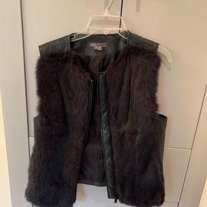 Vince Fur Leather Vsat M navy $695